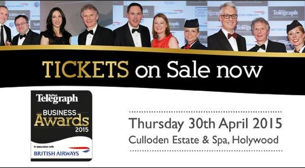 Belfast Telegraph Business Awards Tickets on Sale NOW
