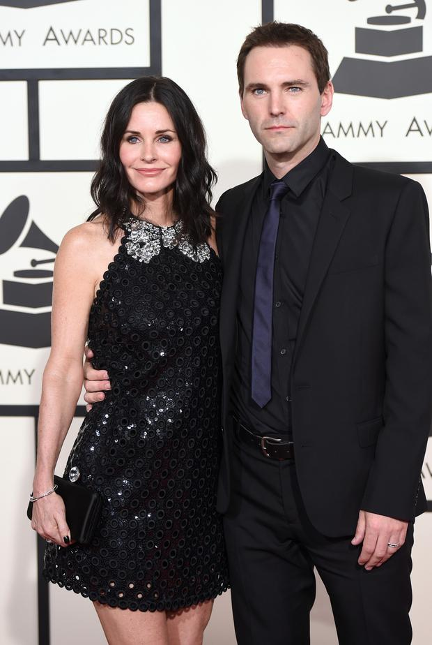 Actress Courteney Cox and Snow Patrol star Johnny McDaid