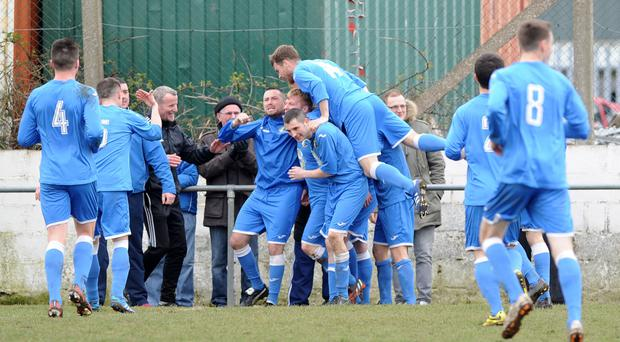 Action from Ards Rangers v Immaculata, April 4