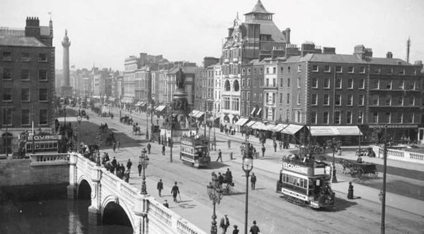 O'Connell Street, Dublin, pictured in 1915