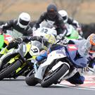 Stephen Thompson out in front on the Penz13.com BMW during the Enkalon Trophy race at Bishopscourt on Saturday.