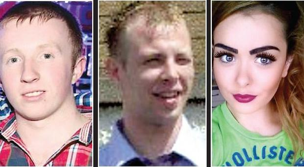 Johnny Black (19) and Robin Wilson (26) were killed in the Ballycastle crash. Eighteen-year-old Clodagh Arbuckle is fighting for her life in hospital.