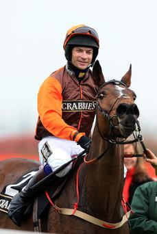Aintree hopeful: Sam Waley-Cohen rides Warne