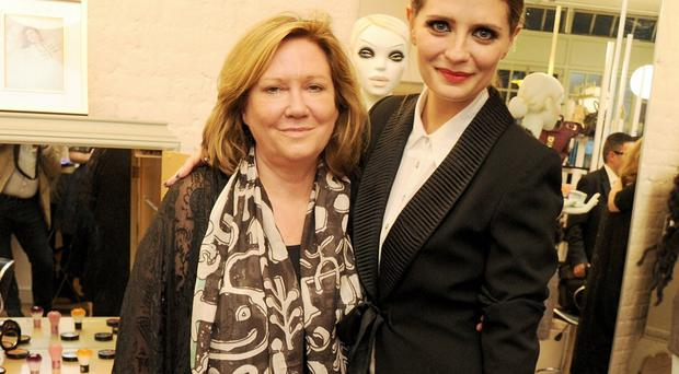 Mischa Barton and her mother, Nuala, at the opening of The Mischa Barton Boutique in London in 2012