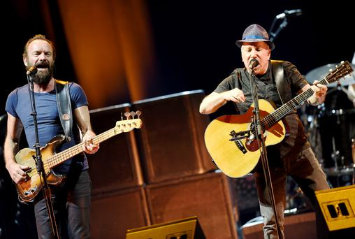 Double act: Sting (left) and Paul Simon at Odyssey
