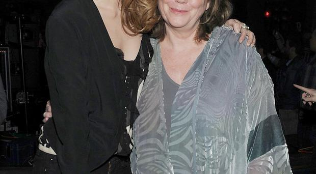 Actress Mischa Barton with her mother Nuala in happier times