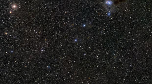 The sky around the young star