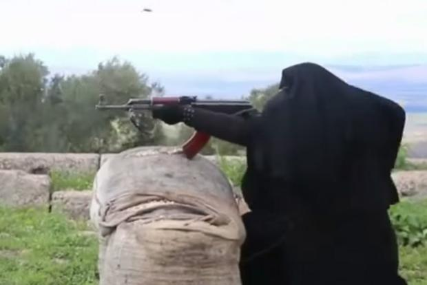 All-female jihadist brigade insists that a woman's role is equal to a man