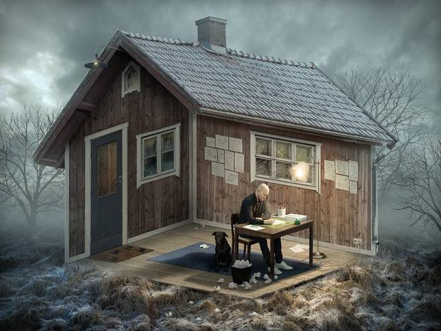 'The Architect' by Eric Johansson: 'The dicipline of paradoxal geometry, imagine the unimaginable'