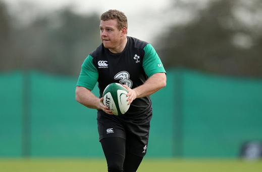 Ireland Rugby Squad Training, Carton House, Co. Kildare 27/1/2015 Sean Cronin