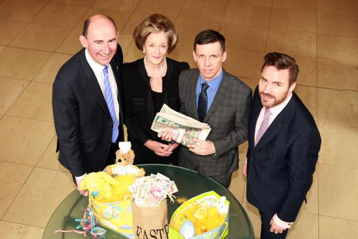 Mark Walker of Hilton Hotels NI, Dame Maureen Thomas, Sunday Life editor Martin Breen and Simon Sheehan is the Director of the DM Thomas Foundation for Young People.