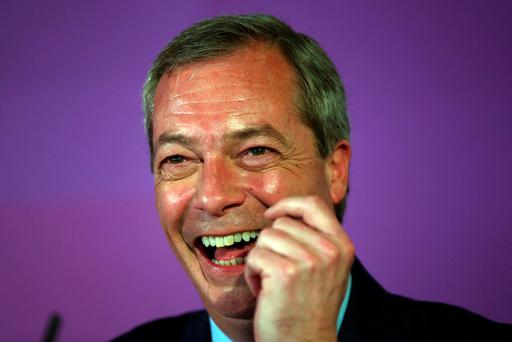 Ukip leader Nigel Farage speaks during the launch of his party's election manifesto