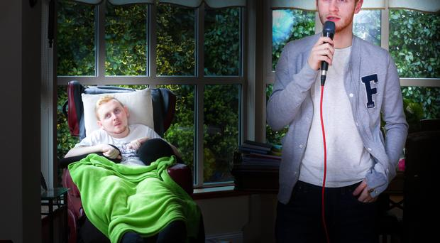 Perfect note: Mark McMullan sings for his brother Declan