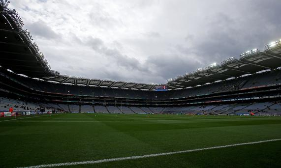 A general view of an empty Croke Park