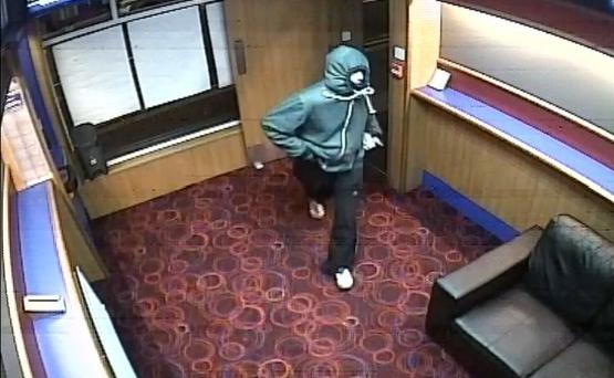 Police are keen to identify the male captured on the CCTV. Pic PSNI