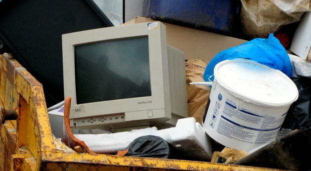 Less than a sixth of the tens of millions of tonnes of electronic and electrical waste generated across the world last year was properly recycled, reused or treated, a study has found. Stephen Kelly/PA Wire.
