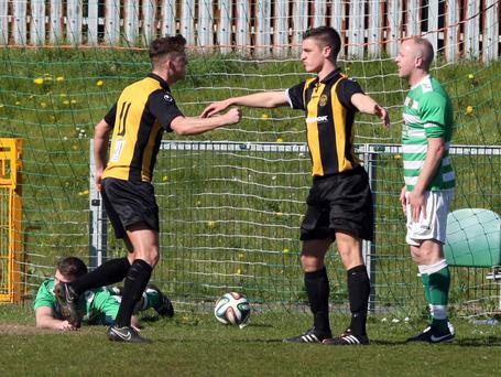 Action from Donegal Celtic v Carrick Rangers, April 18
