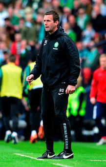 Celtic manager Ronny Deila was furious his side were not awarded a penalty in the Scottish Cup semi-final
