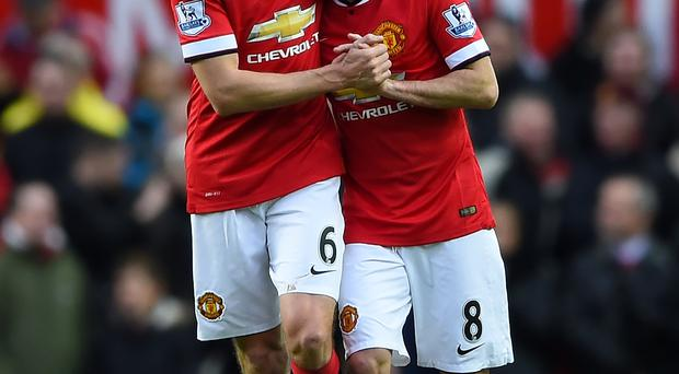 Raring to go: Jonny Evans could play on Sunday