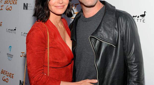 Courteney Cox and musician Johnny McDaid