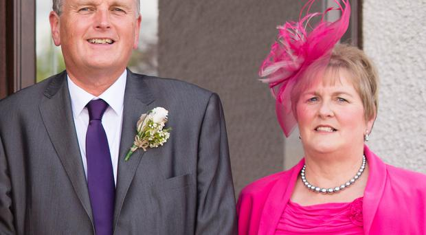 Health Minister with his wife Grace, who is battling back to health after suffering two strokes earlier this year