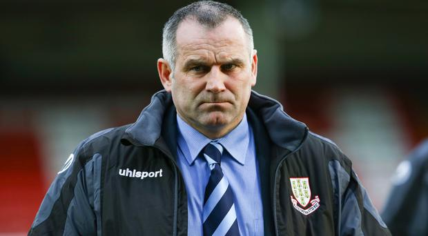 21st March 2015 ?William Cherry/Presseye Ballymena manager Glenn Ferguson during Saturday evenings Irish Cup Semi Final against Portadown at the Oval, Belfast.