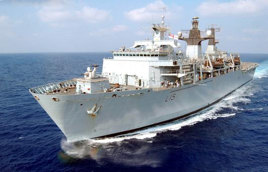 HMS Bulwark, the Navy's flagship Dave Griffiths/MoD Crown/PA Wire.