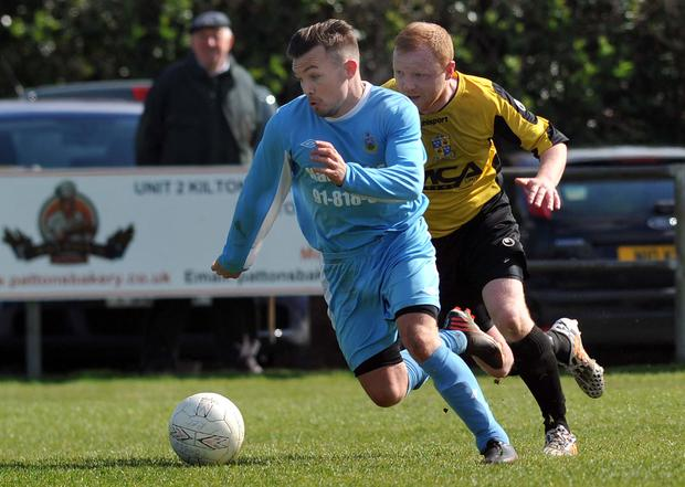 Action from Comber Rec v Ards Rangers, April 25