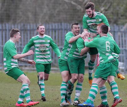 Donegal Celtic are jumping for joy after sealing Championship One survival on a dramatic last day