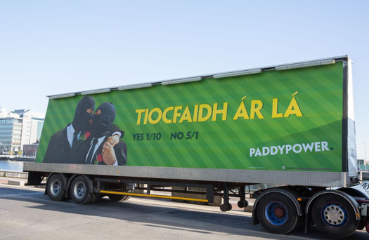 Paddy Power billboard. Pic Twitter