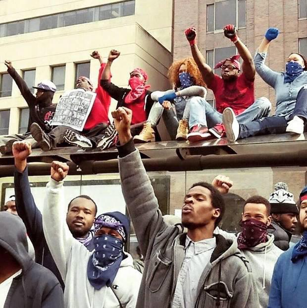 Bloods and the Crips unite in Baltimore to 'stop killing one another and rebuild the community'. The Crips, Bloods, BGF and other major gangs reportedly called a truce during the Freddie Gray protests in Baltimore.