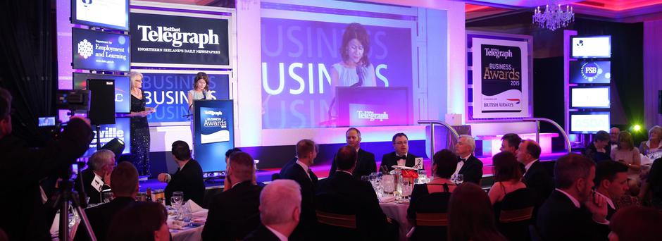 Belfast Telegraph Business Awards in association with British Airways at the Culloden Hotel. Margaret Canning at the awards. Picture by Kelvin Boyes / Press Eye