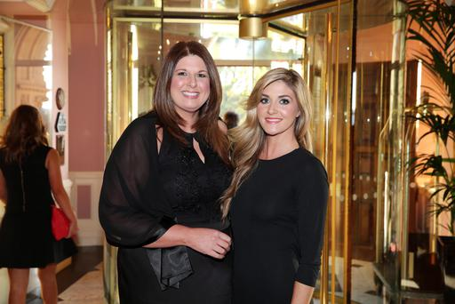 Belfast Telegraph Business Awards in association with British Airways at the Culloden Hotel. Gillian Shields and Sarah Smith pictured at the awards. Picture by Kelvin Boyes / Press Eye