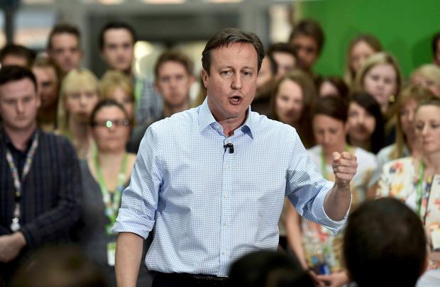 David Cameron was addressing staff at Asda's headquarters in Leeds when he made his third slip of the tongue in a week
