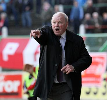 Portadown manager Ronnie McFall