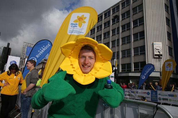 Press Eye - Belfast - Northern Ireland 4th May 2015 - 2015 Deep RiverRock Belfast City Marathon, Northern Ireland. Niall Burns takes part in the marathon. Picture by Andrew Paton / Press Eye.