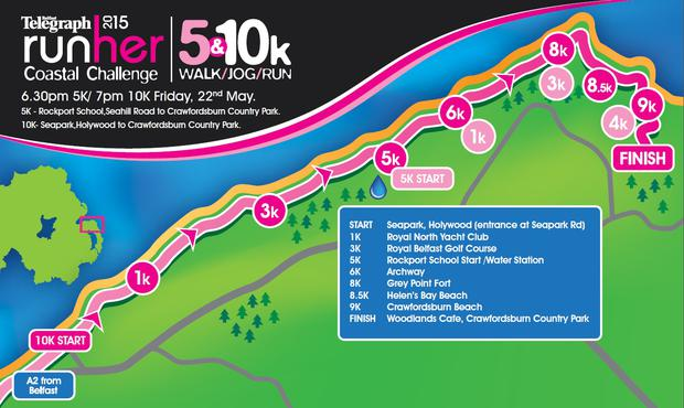 The Runher Coastal Challenge 2015 route