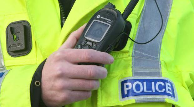 A bomb exploded close to the main cross-border railway line in Newry yesterday