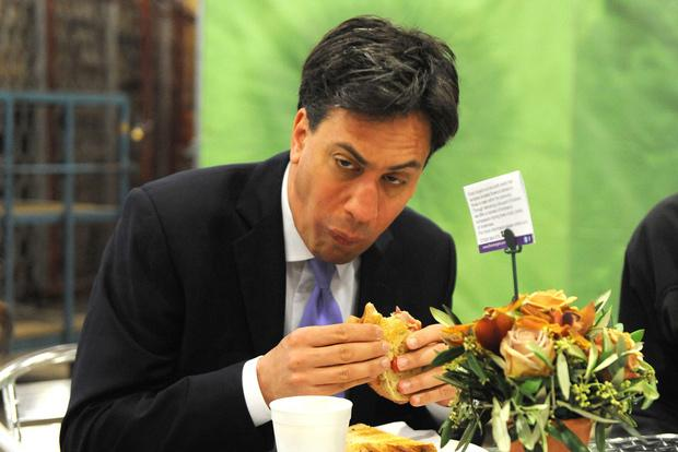 The Sun used a picture of Ed Miliband eating a bacon sandwich on front page