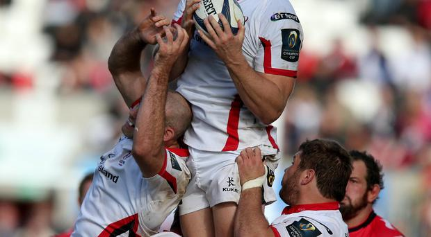 Aiming high: Franco van der Merwe says each of Ulster's remaining games is a cup final as they aim to secure their place in the PRO12 decider at the Kingspan Stadium
