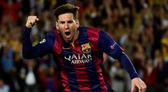 A cut above: Lionel Messi of Barcelona