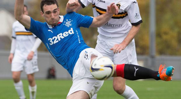 Ready: Rangers' Richard Foster is all set for a battle royale against Queen of the South