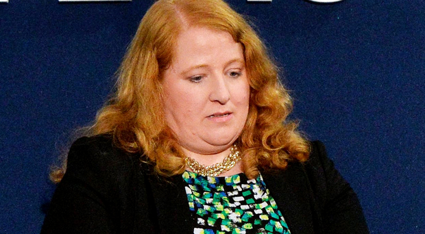 A defeated Naomi Long at the East Belfast count