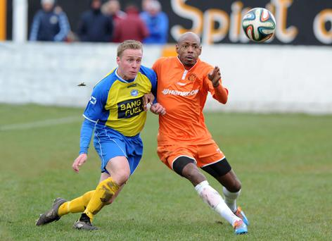 Carrick Rangers' Miguel Chines