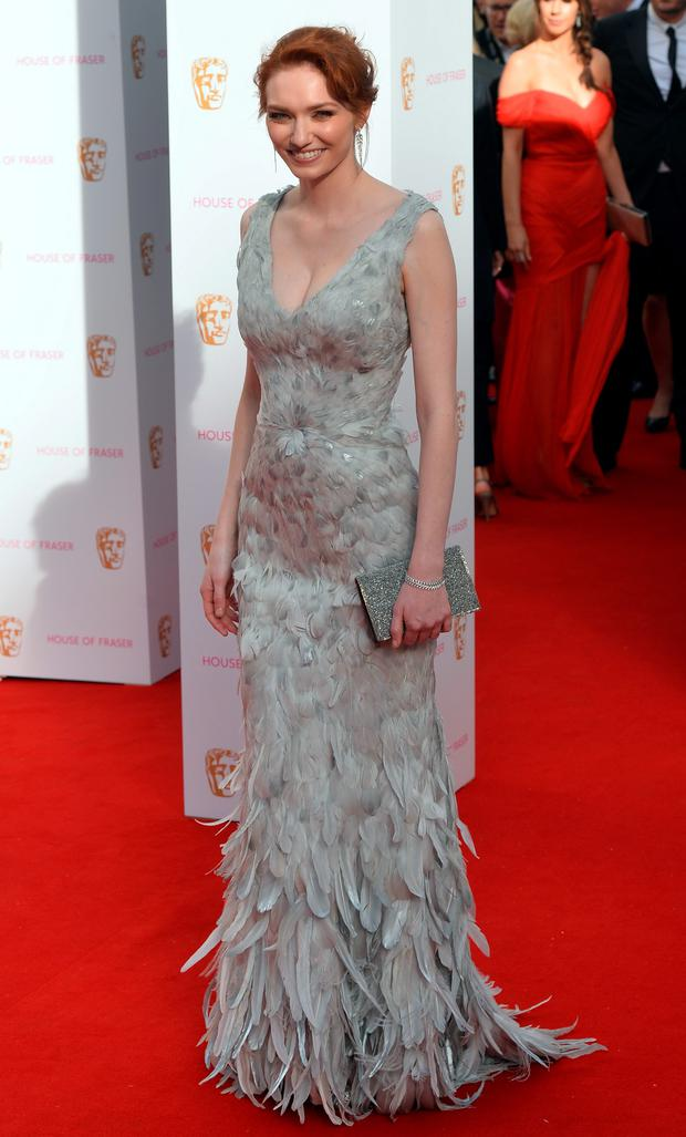 Eleanor Tomlinson attending The House of Fraser British Academy Television Awards at the Theatre Royal, London. PRESS ASSOCIATION Photo. Picture date: Sunday May 10, 2015. Photo credit should read: Hannah McKay/PA Wire