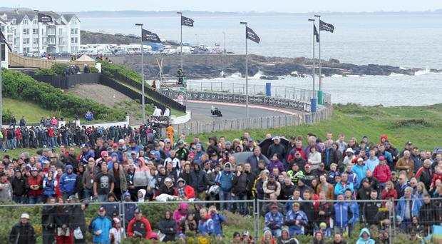 2014 crowds at the Vauxhall International North West 200.