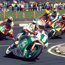 Blast from the past: Phillip McCallen on his way to his historic five-timer at the North West back in 1992