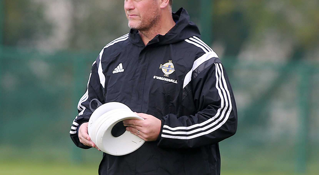 Jim Magilton in his role as assistant coach