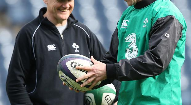 Spoilt for choice: Joe Schmidt can rely on Johnny Sexton but Paddy Jackson is giving the Ireland coach food for thought
