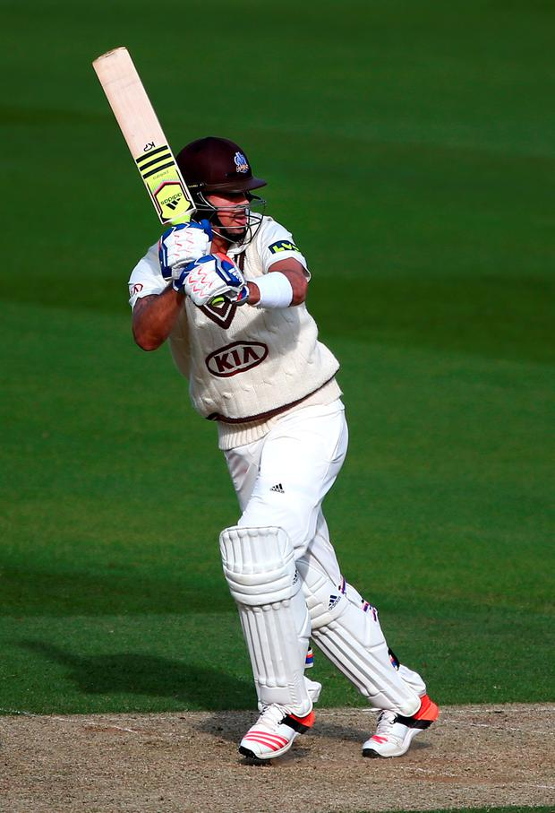 Runs galore: Kevin Pietersen en route to his triple century but it didn't earn him an England recall